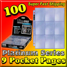 100 ULTRA PRO PLATINUM 9-POCKET PAGES SHEETS PROTECTORS BINDER BASEBALL FOOTBALL