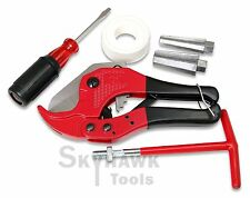 New PVC PIPE CUTTER KIT with Teflon Tape Tapered Jaw T-Handle Reamer Screwdriver
