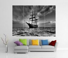 SAILING SHIP PIRATE BOAT SEA GIANT WALL ART PRINT POSTER H263