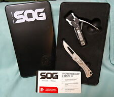 SOG MICRO TOOLCLIP & CENTI II NEW OPEN PACKAGE USA SHIP INCLUDED LOCKBACK KNIFE