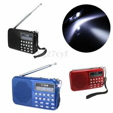 SD/FM Radio Portatile MINI LETTORE MP3 USB Wireless con Luce RADIOFONICO MEDIA