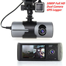 "2.7""LCD HD 1080P Car DVR Dual Camera Video Recorder Dash Cam G-sensor GPS Logger"