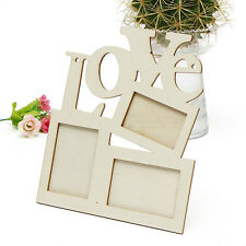 New Hollow Love Wooden Photo Picture Frame Rahmen White Base Art Home Decor