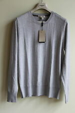 NEW BURBERRY BRIT  CHECK DETAIL COTTON CASHMERE SWEATER