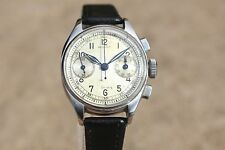 MILITARY-PILOT GALLET COMMANDER VINTAGE CHRONOGRAPH WATCH ServicedEXCELSIOR PARK