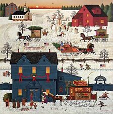 "Charles Wysocki Signed and Numbered Lithograph ""A Warm Christmas Love"" COA"