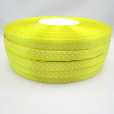 New hot 10 Yards Charm 3/8 9mm Polka Dot Ribbon Satin Craft Supplies Yellow#4