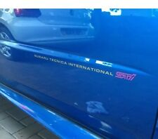 SUBARU IMPREZA STI FRONT DOOR STICKERS X2 (VERSION 8)