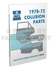 1970-1971-1972 Plymouth Body Parts Book Barracuda Cuda Duster Valiant Collision