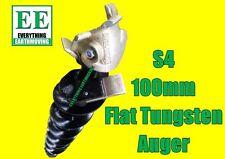 100mm Auger, Flat Tungsten S4 Bobcat, Dingo, Tractor, Skid Steer, Auger Torque