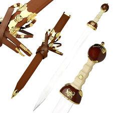 Medieval Roman Gladiator Oriental Sword Brown Scabbard #819BN