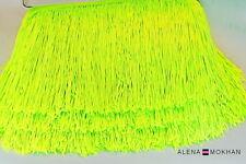 "1  yard 6"" Shiny Yellow Green Chainette Fringe Dance Costume Lamp Trim"