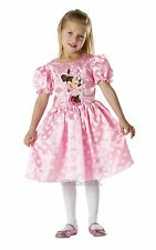 Girls Disney Pink Minnie Mouse Fancy Dress Costume Child Party Outfit Age 7-8