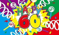 HAPPY 60th FLAG 5' x 3' Party Celebration 60 Years Old Birthday Banner