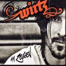 """WIRTZ """"11 ZEUGEN"""" CD 11 TRACKS DEUTSCHROCK NEU"""