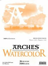 Arches Watercolour Pad Rough 300 gsm A4  210 x 297 mm 100% cotton acid free