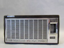 Vintage York ATL TR-100 Ten Transistor High Fidelity Portable Radio