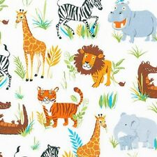 Robert Kaufman Cotton Fabric. Wild Adventure, Safari - wild - Animal. By the FQ