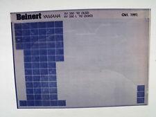 Yamaha XV 250_L_1992 Microfilm Catalogue des pièces Pièce rechange Liste