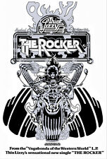 Thin Lizzy The Rocker Poster Art 8x11 Print By Jim Fitzpatrick. Album Cover Art