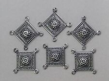 #1568 ANTIQUED SS/P FILIGREE 4 RING CONNECTOR - 6 Pc Lot