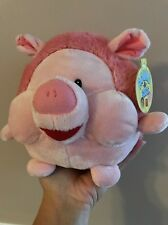 RUSS BERRIE STUFFED PLUSH PINK PIG ROUND A BOUTS CUTE ADORABLE Baby Kids Gift