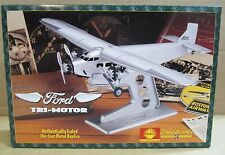 "Ford Tri-Motor Aircraft Air Transport ""Gold Shell"" Die-Cast Metal 1:72 Scale NEW"