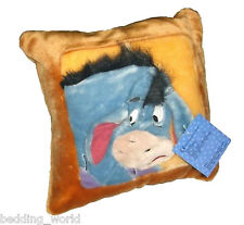 CUSHION COVER EEYORE DISNEY WINNIE THE POOH 3D SOFT PLUSH SQUARE BLUE DONKEY