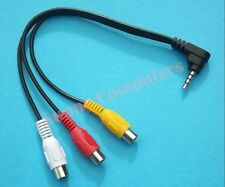 Angle Plug 3.5mm AUX Male to 3RCA Female Connector Stereo Audio Adapter Cable AU