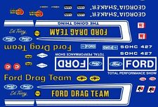 Official FORD Drag Team Mustang 1/32nd Scale Slot Car Decals Georgia Shaker