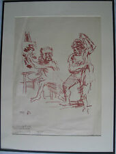 OSKAR KOKOSCHKA VERY RARE LARGE SIGNED DATED 59 AND DEDICATED TO QUEEN OF ITALY