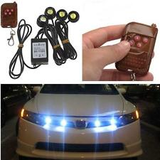 12V Hawkeye LED Car Emergency Strobe Lights DRL Wireless Remote Control Kit Y5