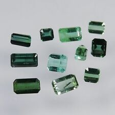 10.05 cts blue green tourmaline mixed facted cut lot afghanistan