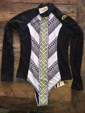 New Rip Curl Gypsy Road Long Sleeve Rashguard  Size M  Back Zip bodysuit surf