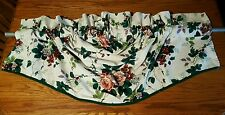 Waverly PLEASANT VALLEY COLONIAL Relaxed Roman VALANCE Grapes Rose Green 60 x 29