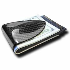 Billetus MAXX Carbon Fiber RFID Blocking Money Clip Wallet - BLACK