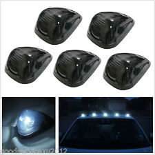 5 Pcs 5LED White Light Black Smoke Lens Car 4X4 Cab Top Roof Lights Marker Lamps
