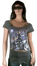 WoW AMPLIFIED DEEP PURPLE Strass Steine Biker Rock Star ViP Vintage T-Shirt g.L