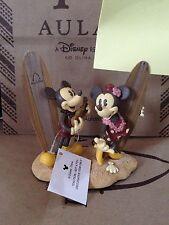 Disney Aulani Resort MICKEY & MINNIE MOUSE Photo Holder Statue 2 slots NWOT