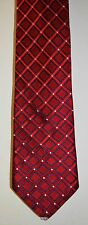 Mens Necktie by Tommy Hilfiger Red 100% Silk made in U.S.A. See 7 Pictures.