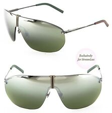 GUCCI Aviator Shield Men Sunglasses GG 2201/S WXN2N Black Olive Green Mirrored
