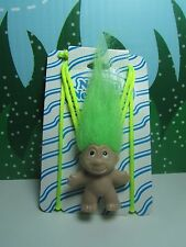 """TROLL NECKLACE (#1) - 2"""" DAM Norfin Troll Doll - NEW ON CARD - Rare"""