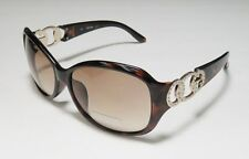 NEW GUESS GUF 249 TO-34A Tortoise Women's Rectangle Authentic Sunglasses New!!