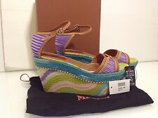 Authentic Missoni Platform Wedges. Stunning colours. VGC. Size 4. Box/Dust Bag