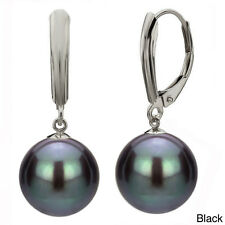 New Women's 8/10/12/14mm Natural Akoya South Sea Shell Pearl Leverback Earrings