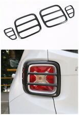 4Pcs Black Iron Taillight Lamp Cover Trim Frame  for Jeep Renegade 2015-2016