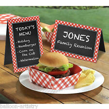 8 Summer BBQ Garden Picnic Party Blackboard Chalkboard Table Tent Signs