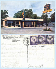 Glass House Drive In Restaurant Maple Dr Atlanta Georgia 1959 Postcard - Signage