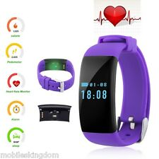 IP68 BT Sport Watch Smart Wristband Fitness Tracker Pedometer Heart Rate Monitor