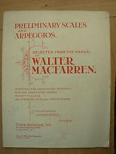 Preliminar Escalas y Arpegios desde el Manual de Walter Macfarren